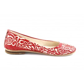 Zaz ballerinas in red leather