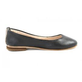 Ballerines Romia en cuir noir