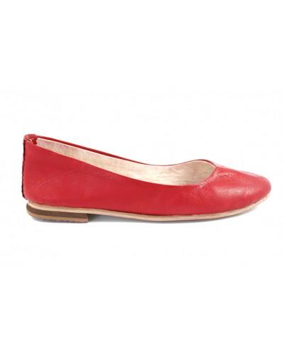 Bailarinas Romia de cuero rojo