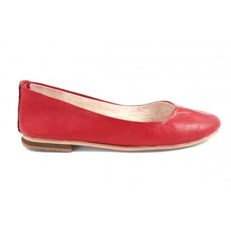 Ballerines Romia en cuir rouge