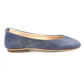 Ballerines Romia en cuir bleu