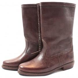 Stiefel Walidia aus kastanienbraunem Leder