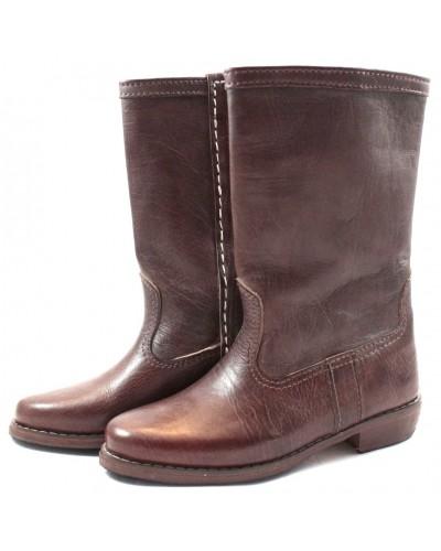 Bottes WALIDIA en cuir marron
