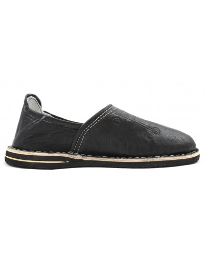 Berber Slippers made of black leather