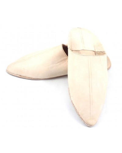 Tapered slippers made of Natural leather for Men