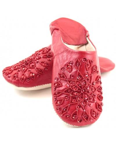 Selma Slippers in Red Glitter
