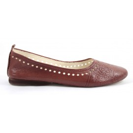 Ghita Ballerina made of Camel Leather