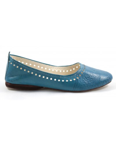 Ghita ballerinas in turquoise leather