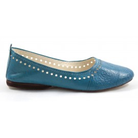 Ghita Ballerina made of Turquoise Leather