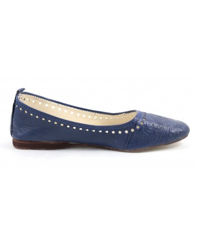 Ghitaballerina in blue leather