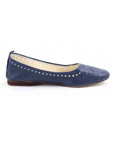 Ghita-Ballerinas aus Leder- blau