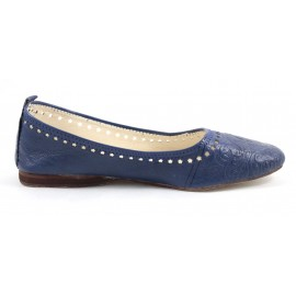 Ghita ballerina in blue leather