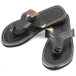 Marrakech Flip-Flops made of Black Leather