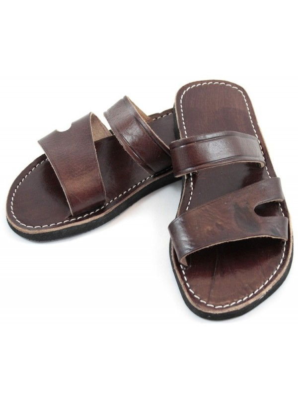 In Sandals Moroccan Leather Men's Brown QtsrChdx