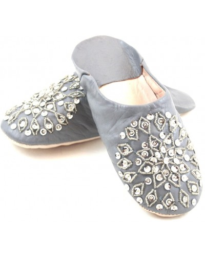 Grey selma slippers with sequins