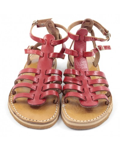 Samira Sandals made of Red Leather