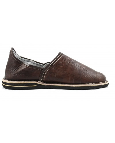 Berber Slippers made of brown leather