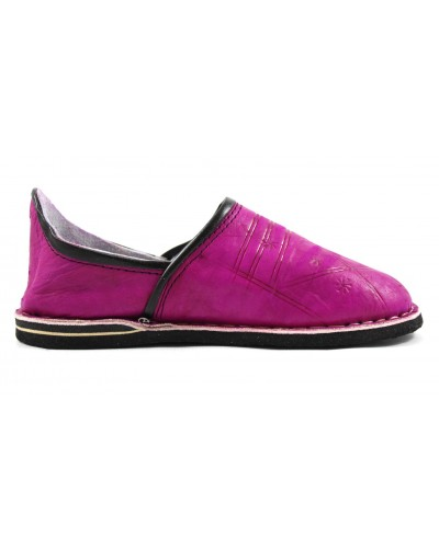 Berber slippers made of Fuchsia leather