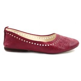 Ghitaballerina in red leather