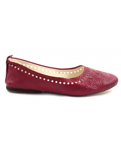 Ghita ballerina in red leather