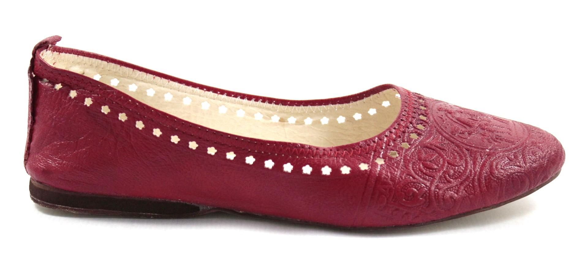 23b8a0402 Ghita ballerina in red leather
