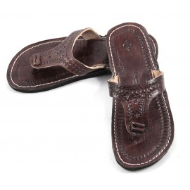 Marrakech flip-flops in brown leather