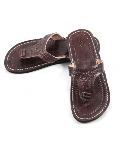 Marrakech Flip-Flops made of Brown Leather