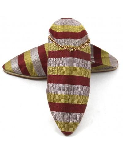 Babucha de Sabra granate para dama