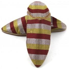 Sabra-Babouches für Frauen- granat