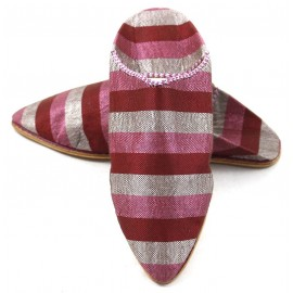 Slippers made of Pink and Red Sabra for Women