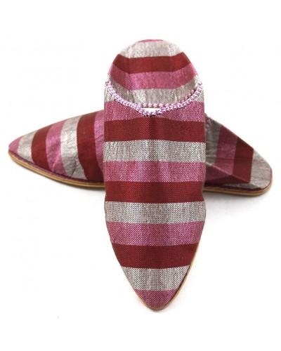 Women's pink & red sabra slippers