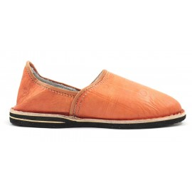 Babouches Berbères en cuir orange