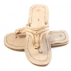 Marrakech flip-flops in natural leather