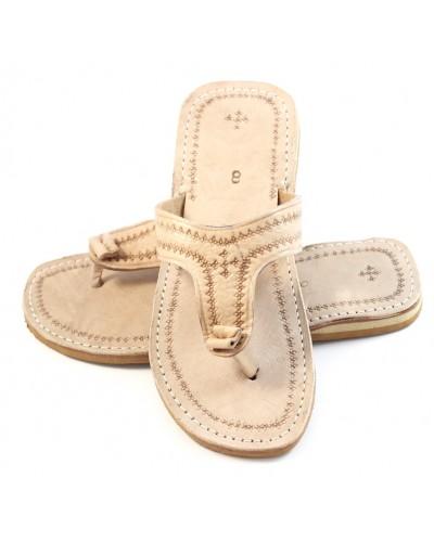 Marrakech Flip-Flops made of naturel Leather