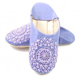Parma violet selma slippers with sequins