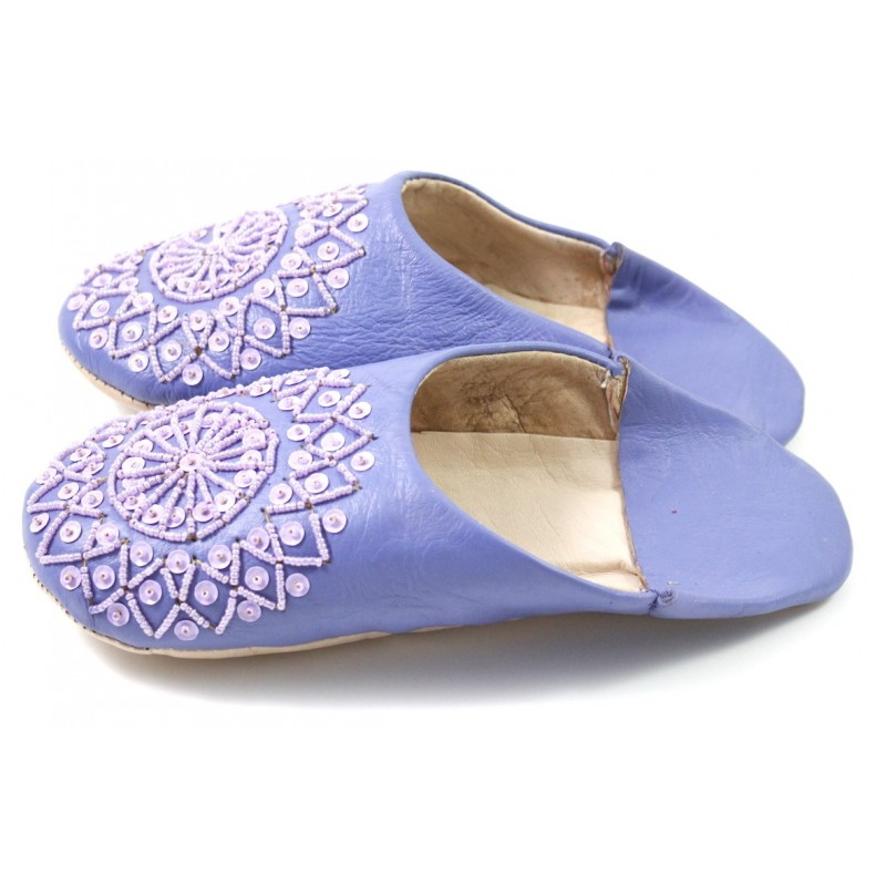 e323c53ba0d4 Parma violet selma slippers with sequins