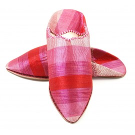 Women's pink sabra slippers