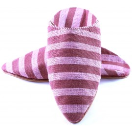 Women's sabra slippers - stripped