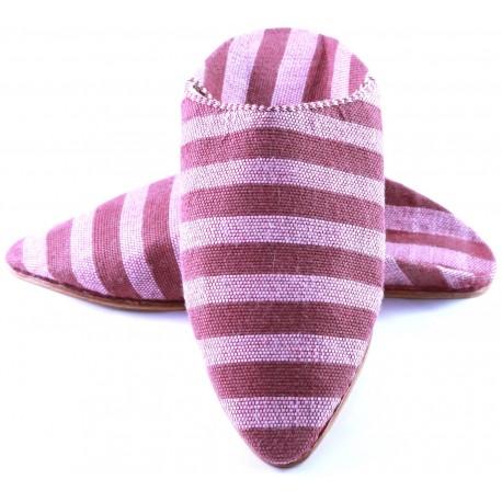 Women's sabra slippers - stripped