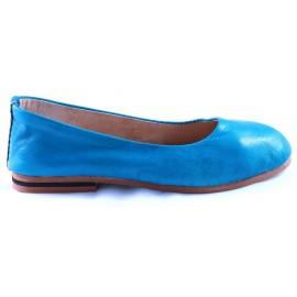 Ballerines Romia en cuir turquoise