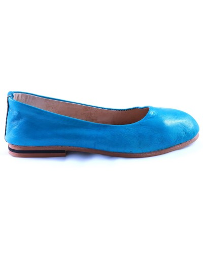 Romia ballerinas in turquoise leather
