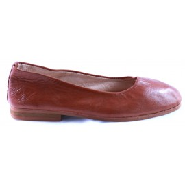 Ballerines Romia en cuir marron clair