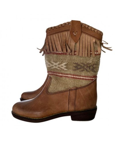 Berber boots with kilim and tassels