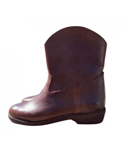 Botines WISSANE de cuero marrón