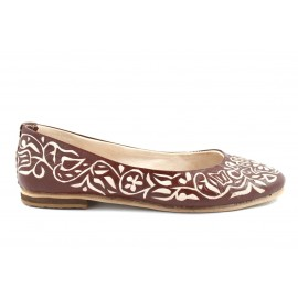 Zaz Ballerina made of Brown Leather
