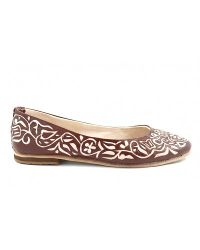 Zaz ballerinas in brown leather